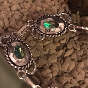 Vintage Jewelry - Vintage 925 rainbow topaz bracelet